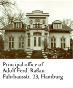 Principal office of Adolf Ferd. Rassau Fährhausstr. 23, Hamburg